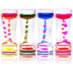 Colored oil and water timers