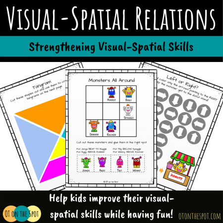 Example pages and link to our Visual-Spatial Relations picture