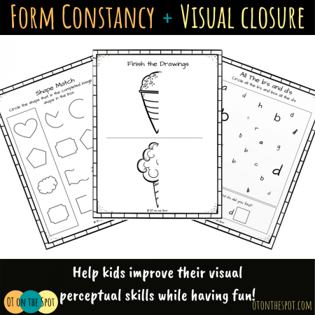 sample pages of the form constancy and visual closure packet